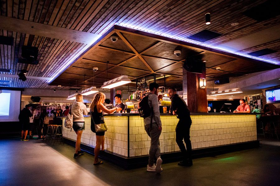 Bar in one of the best hostels in Sydney