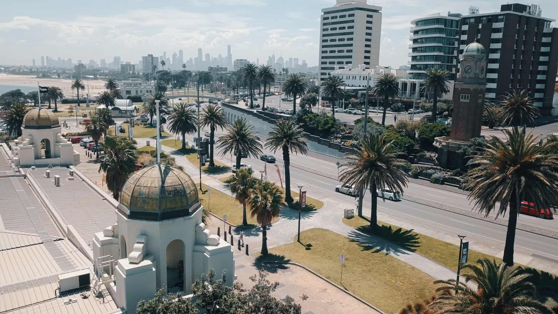 St-Kilda-Melbourne-City-Backdrop-Drone-Shot-Welcome-To-Travel