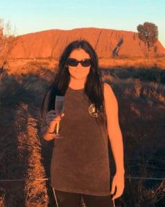 Traveller at Uluru
