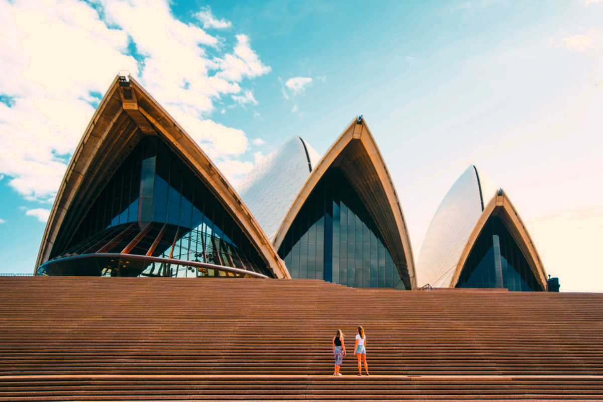 Two girls experiencing the beauty of the Sydney Opera House