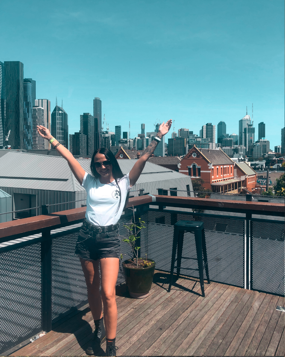 Rooftop of YHA hostel in Melbourne